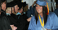 Student graduating, Link to the EICC Programs listing by CCN, Course Title and number of Credit Hours