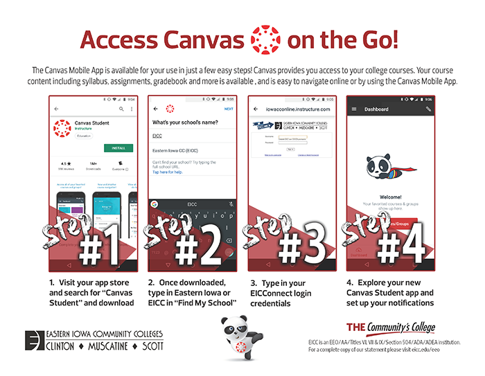 CANVAS Mobile Flyer, all content is in subsequent copy