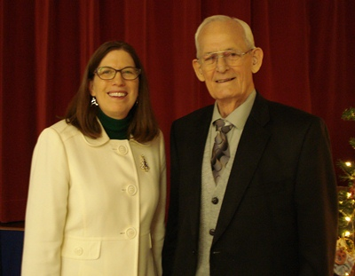 current SCC President, Dr. Paper & past President, Don Foreman