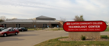 Outside of the Clinton Community College Technology Center