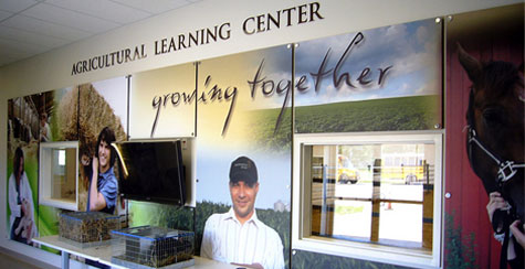 Muscatine Agricultural Learning Center hallway