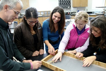 Muscatine Community College students in a science class