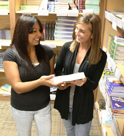 Students in the Bookstore at clinton community college