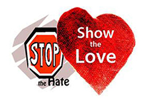 Stop the Hate, Show the Love Walk Logo