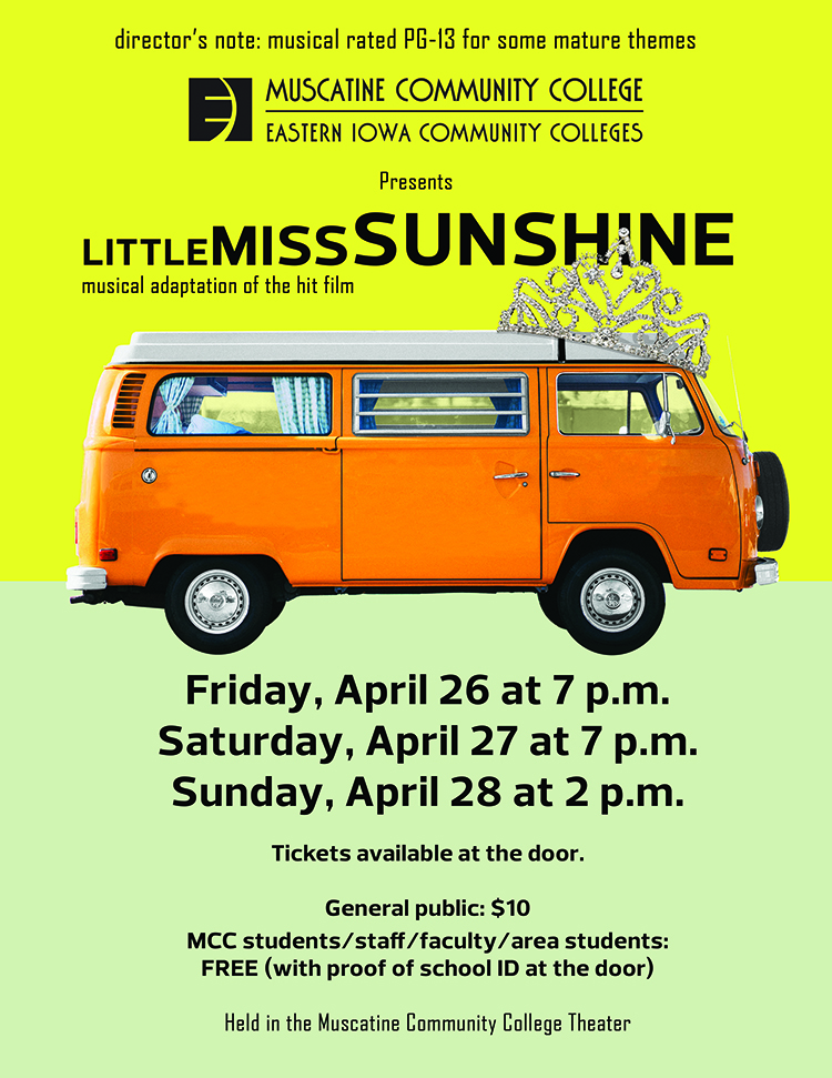 Little Miss Sunshin play flyer, all text in image is in the article