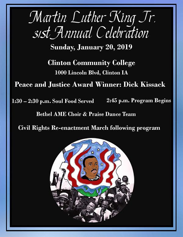 MLK 2019 Celebration Flyer all text content of flyer is in the copy.