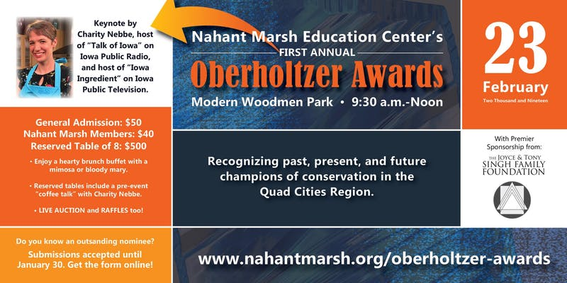 Oberholzter Award Flyer, all info is in copy